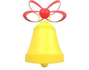 Christmas Bell v2 002 3D asset