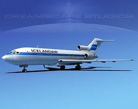 3D Boeing 727-100 Iceland Air
