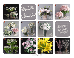Top-ten 3d Flowers Bouquet Collection plant