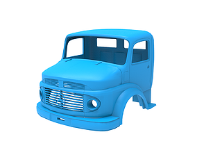 3D print model Mercedes-Benz 1924 2624 Truck Cabin