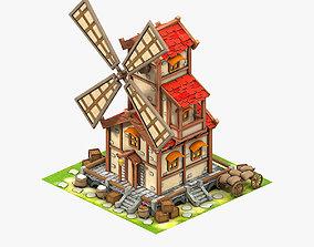 windmill 3D asset