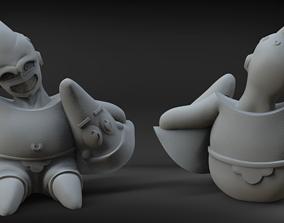 3D printable model Kid BuuTrick - Mix DBZ - SpongeBob