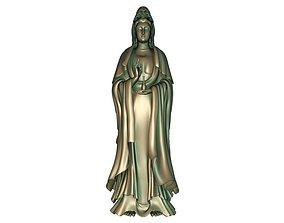 Goddess of 3D print model 3D asset realtime