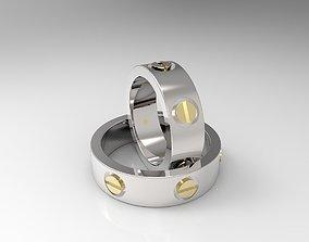 10 rings called LOVE 3D printable model