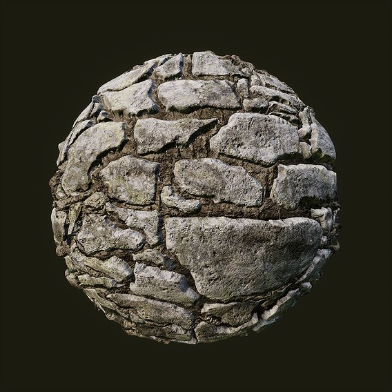Limestone wall tileable texture