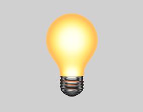 3D asset realtime Light bulb shining