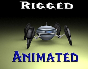 3D asset animated Spiderbot