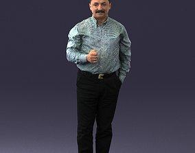 Mustachioed man shirt 0634 3D Print Ready