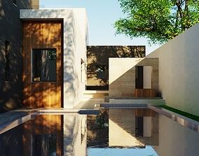 3D Modern house model 2floor