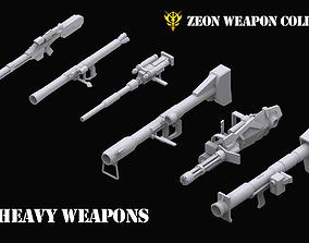 3D Gundam Zeon Heavy Weapons