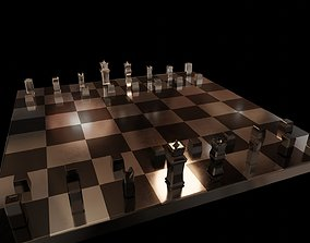 Chess low poly 3D model