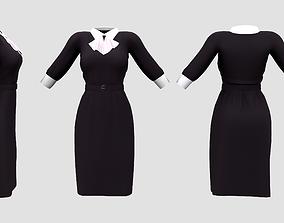 3D model Maid Uniforms With Cravat