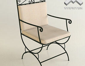 Wrought Iron Chair 3D