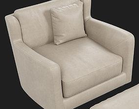 Baxter Bergere armchair 3D model