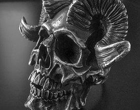 art 3D printable model skull ring