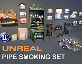 UE4 Pipe Smoking Set 3D asset