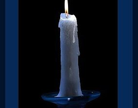 Blue candle 3D model