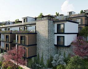 Terrace House High Quality Exterior Scene Lumion 3D asset