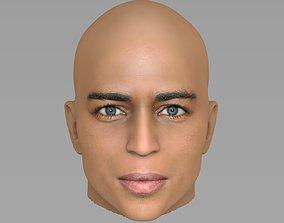 Handsome afroamerican man head TYPE 2 3D