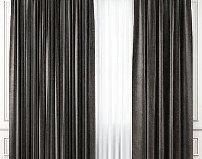 3D asset low-poly Curtains