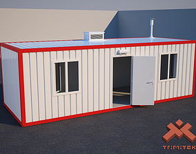 Shipping Container House 3D asset