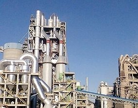 Cement Plant 3d Max animated