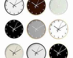 3D Wall Clock Set 01
