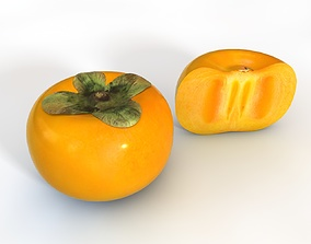 Persimmon Fruit 3D model low-poly
