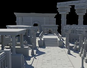 ancient greek roman temples buildings architecture 3D