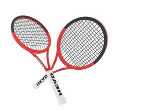 Tennis Racquet 3D asset