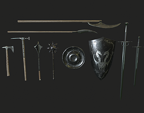Medieval Weapon Pack 3D asset realtime