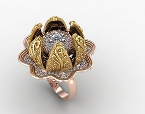 ring jewelry open and close 3D print model