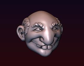 3D printable model Microcephal head stylized