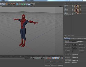 3D asset Cartoon Spiderman-Rigged