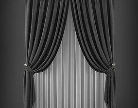 VR / AR ready Curtain 3D model 227