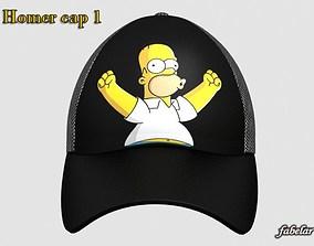3D Homer Simpson cap 1