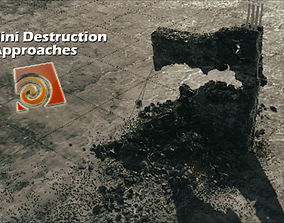 3D model Houdini 17 Redshift Destruction Setup