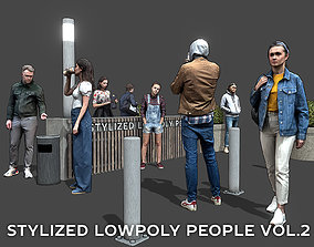 Stylized Lowpoly People Casual Pack Volume 3D model