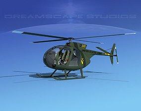 Hughes OH-6 Cayuse V06 3D