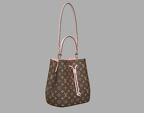Louis Vuitton Neonoe MM Bag Monogram Rose 3D asset 2