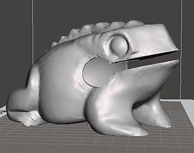 Wood Frog Guiro Rasp Toy 3D printable model