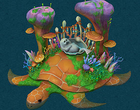 Cartoon version - seabed entrance 3D model