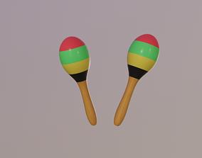 Maracas 3D asset