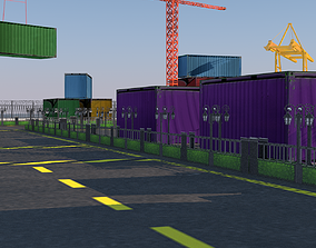 3D Seaport low-poly