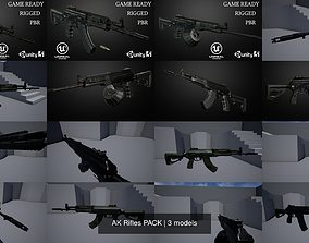 AK Rifles PACK 3D model