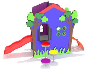 3D model VR / AR ready Playground Playhouse