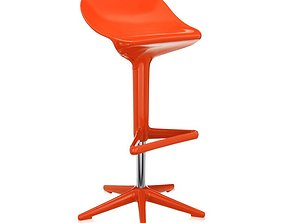 3D model Spoon Stool- Adjustable Height And Swivel