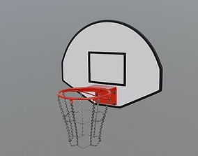 Basketball Hoop 3D model VR / AR ready