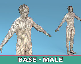 3D asset Low Poly Base Character Male