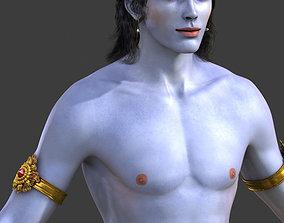 Lord Krishna 3D asset